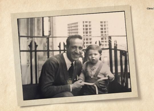 Viken Mikaelian and his dad, circa 1957 | gift annuity
