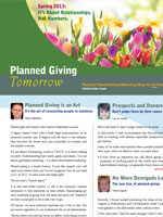 Planned Giving Tomorrow Spring 2013
