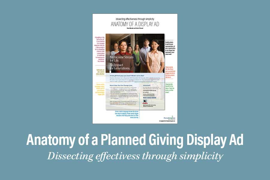 Anatomy Of A Planned Giving Display Ad