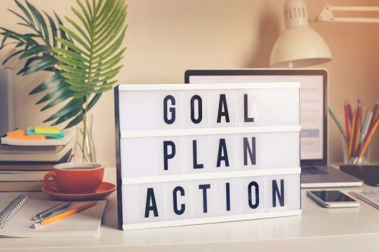 Goal plan action. You can always prepare but action is critical.